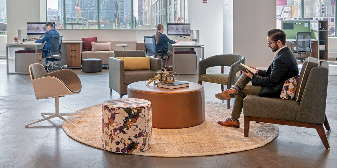 Open office workspaces improve life for employees on a daily basis.