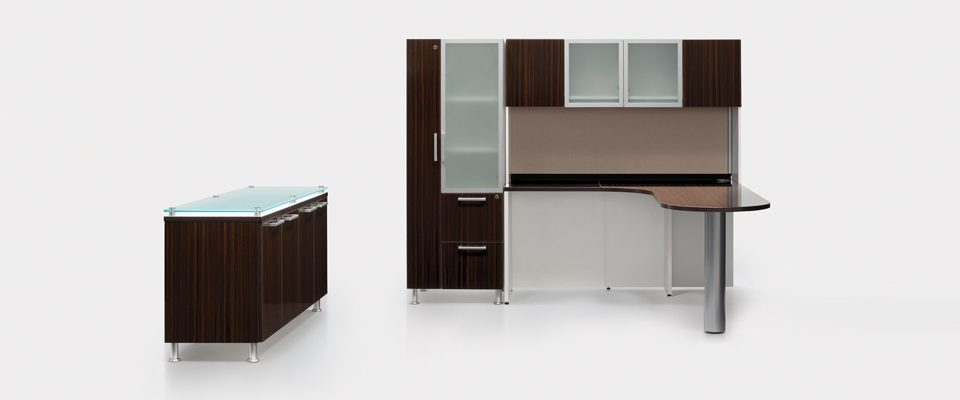 The Task by in2design provides desk and storage space in one. Task can be configured to fit your space and taste.